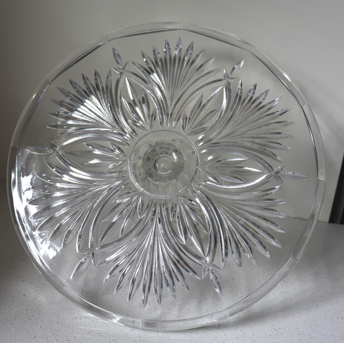 Crystal Glass Cake Stand