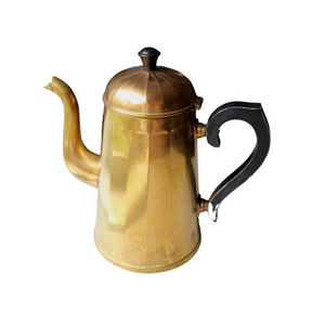 Brass Tea Kettle with Black Handle