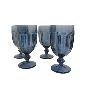 Libbey Blue Glassware: Set of 8