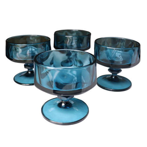Navy Blue Sherbet Coupes: Set of 6