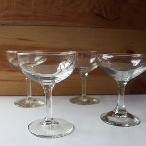 Crystal Glass Coupes: Set of 6