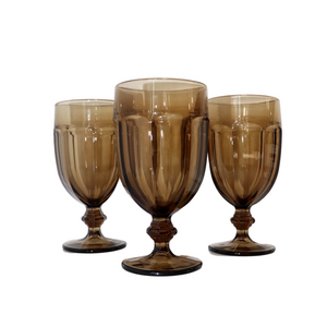 Duratuf Smoked Brown Goblets: Set of 4