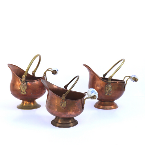 Copper Planters: Set of 3