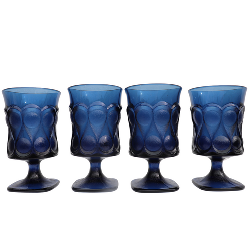 Noritake Spotlight Blue Water Goblets: Set of 4