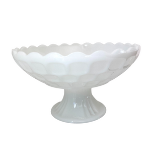 Federal Milk Glass Fruit Bowl