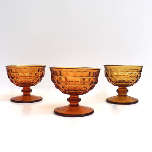 Whitehall Amber Glasses: Set of 4