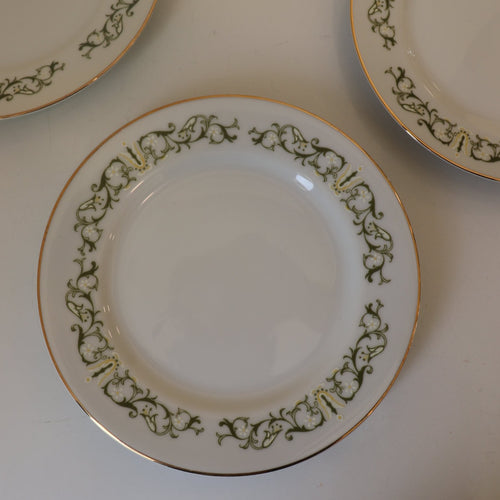 Bell Flower Dinner & Salad Plate : Set of 4