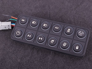 MaxxECU CAN keypad (12 keys) multi color LED