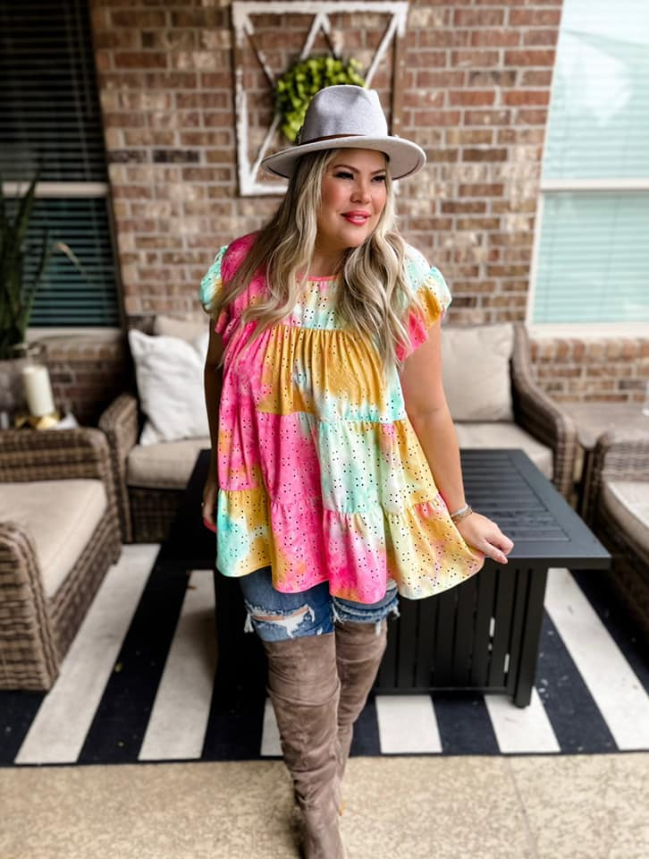 BRIELLE TIE DYE TOP