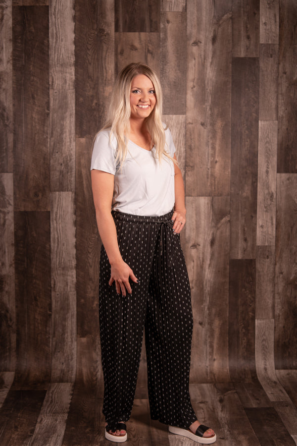 Dotted Pleated Pant