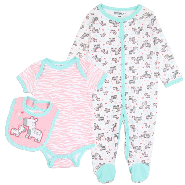 Buster Brown Girls 3PC Layette Set