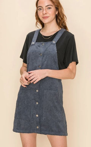 CORDUROY JUMPER DRESS