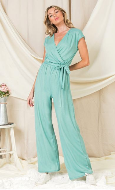 Comfy Knit Jumpsuit Side Tie