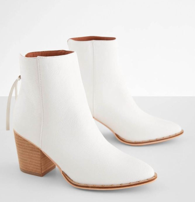Weslee White Heel Boot
