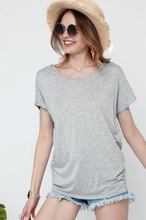 Twisted Open Back Relaxed Top