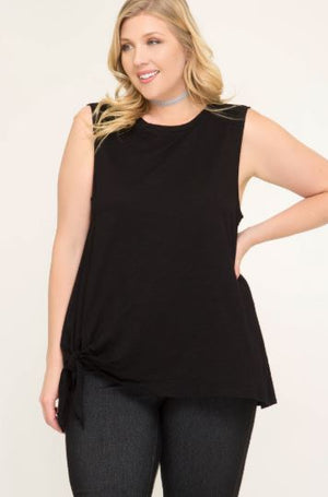 Sleeveless Top with Side Tie
