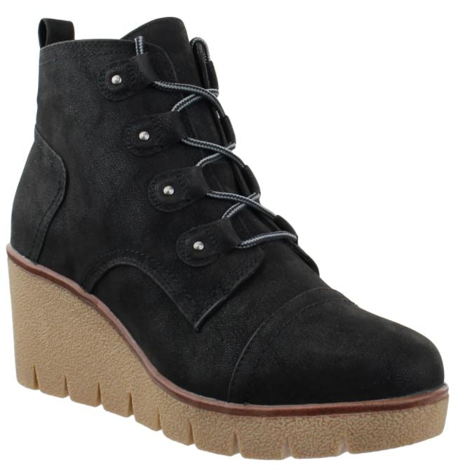 MIA Wedge Lace Up Boot