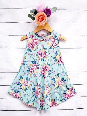 Floral Blue Tunic Dress