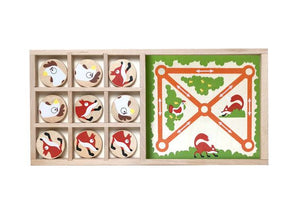 FOX VS CHICKENS-TIC TAC TOE & FARM CHASE GAME SET