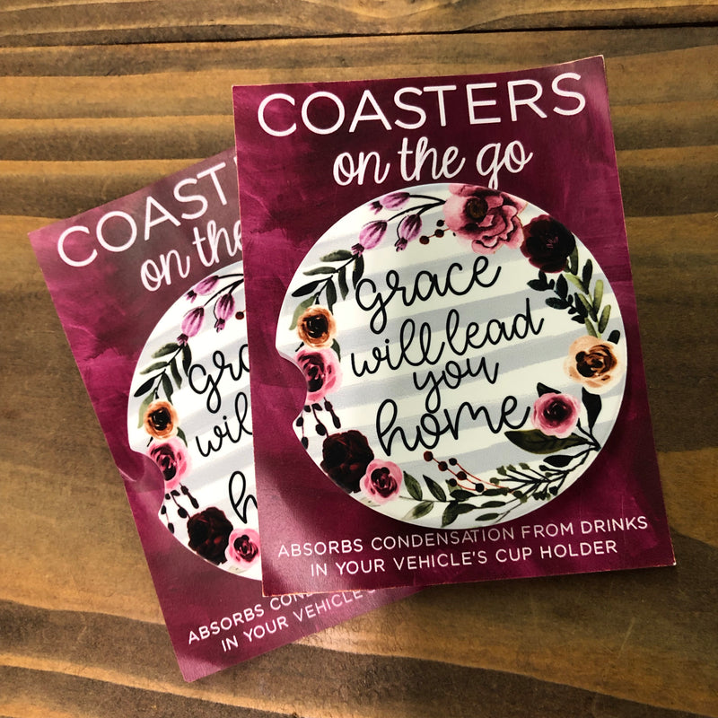 Coasters on the Go—Grace will Lead you Home