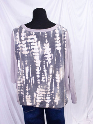 Tie Dye Long Sleeve Dolman Sleeve Top