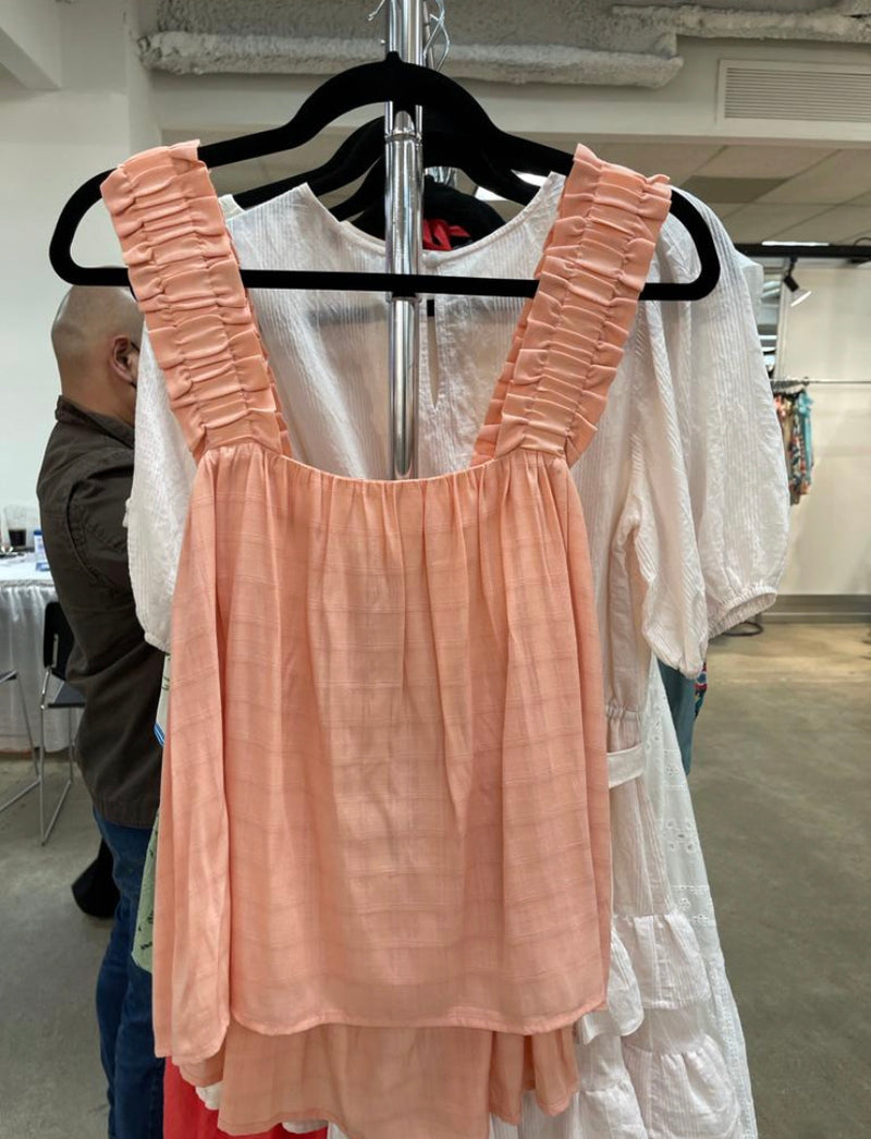 Peach Ruffled Edge Tank