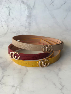 Faux Snake Skin Colored Belts