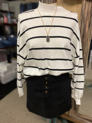 Striped Black/White Cozy Sweater