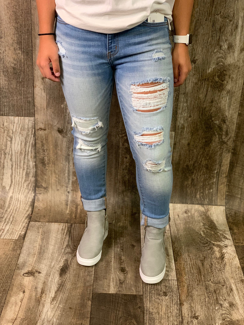 Gemma-Mid Rise Ankle Skinny