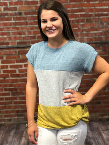 Color Block Twist Top