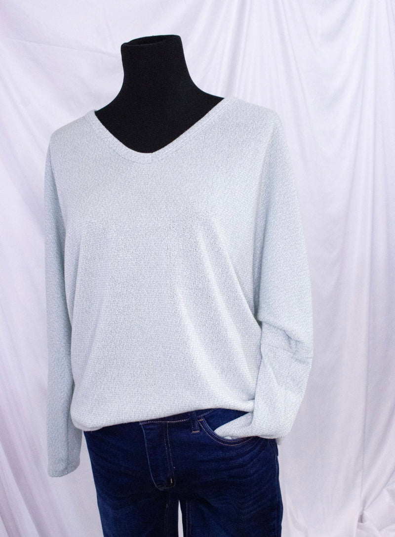 V-Neck Long Sleeve Dolman Top