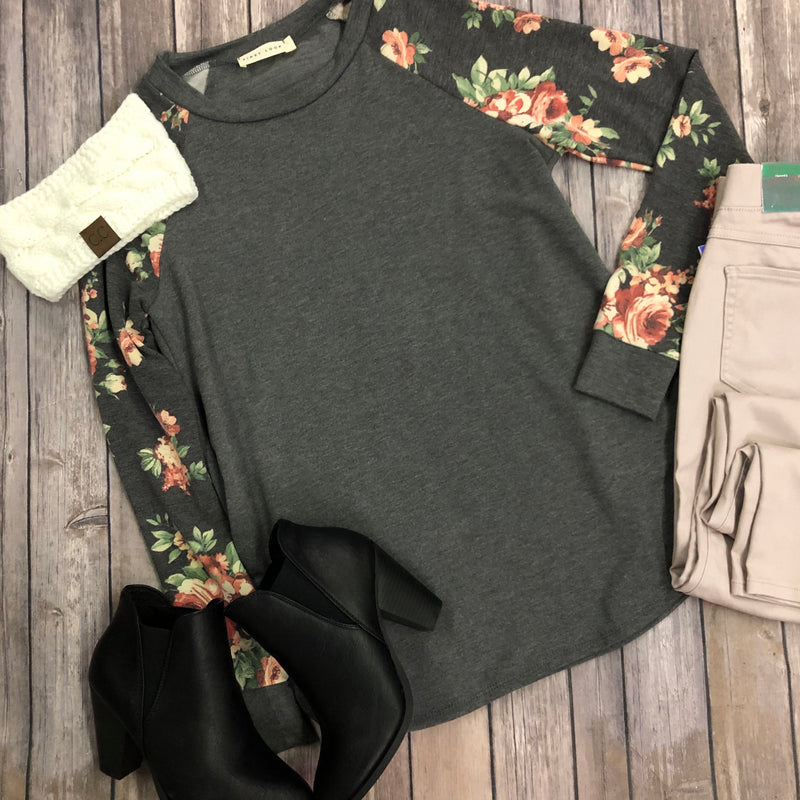 Floral Sleeve Top