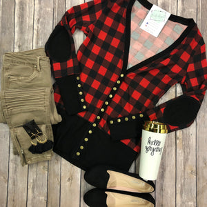 Buffalo Plaid Snap Cardigan