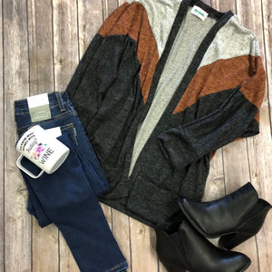 Dolman Colorblock Cardigan