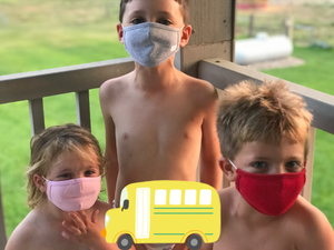SMALL Kids Face Masks- SOLID