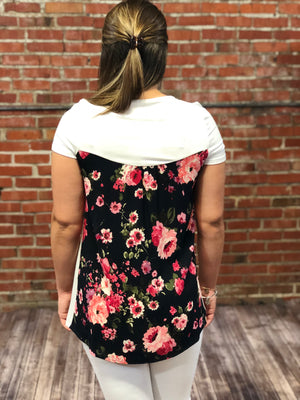 Floral Back S/S Tunic-4482