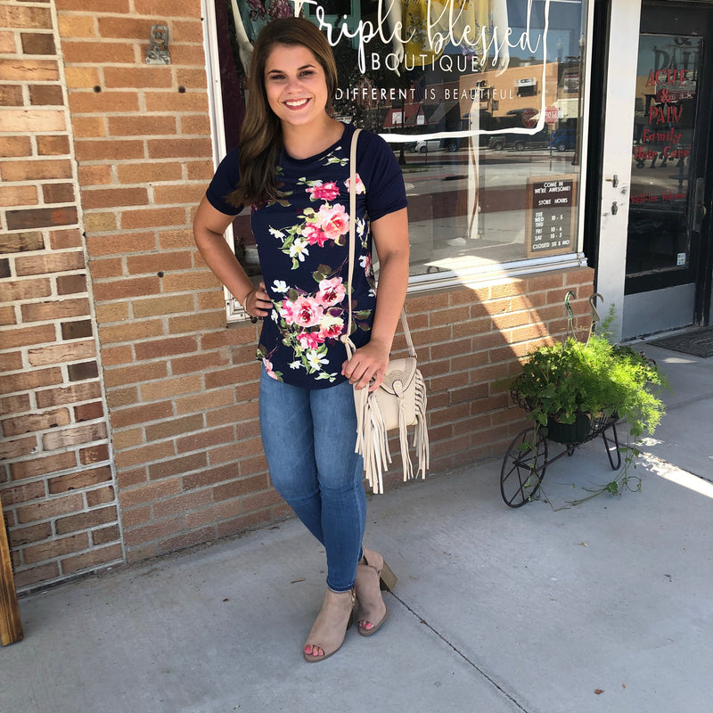 Floral Bodice Tee