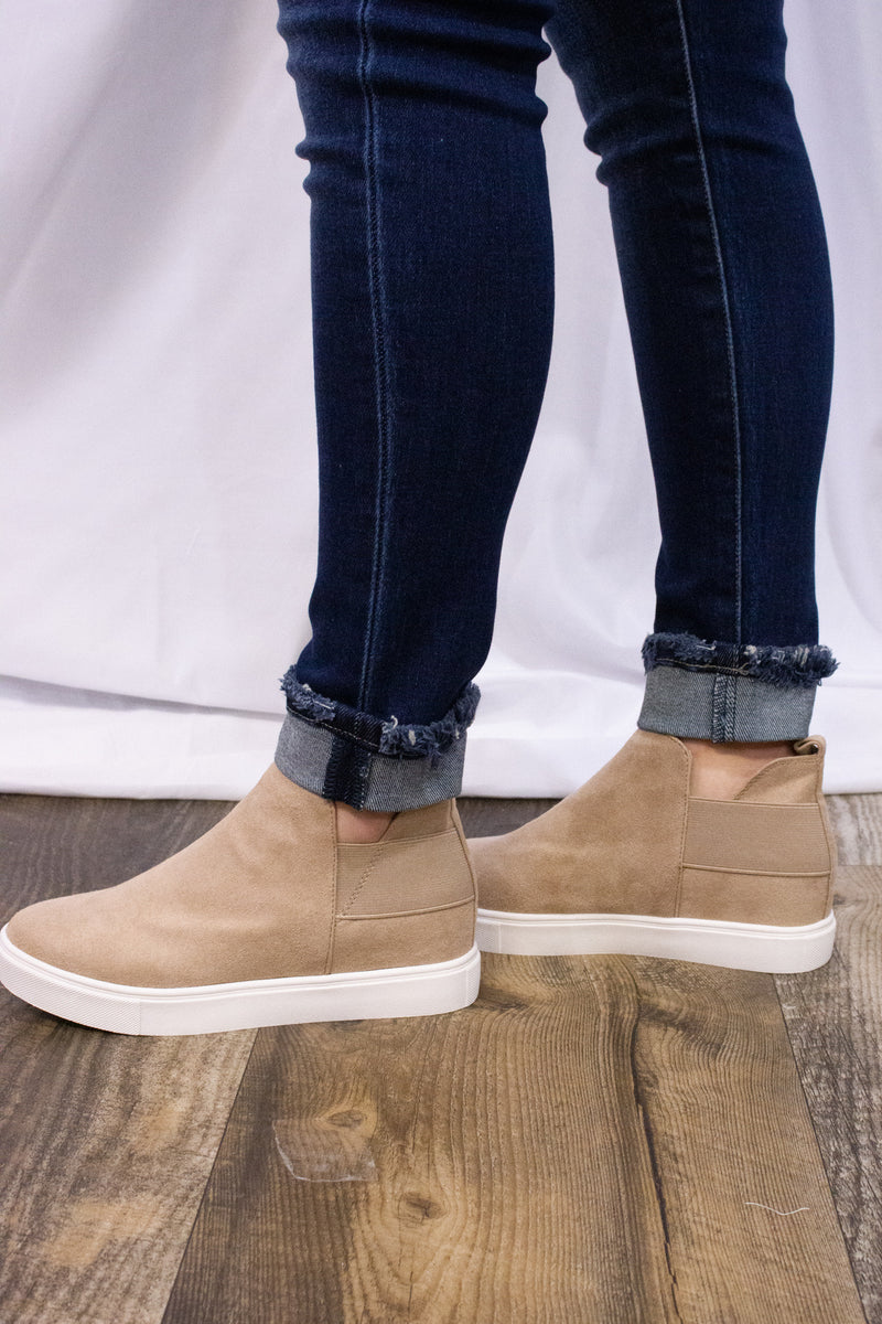 Taupe Diana Wedge Sneaker