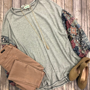 Print Sleeve Top