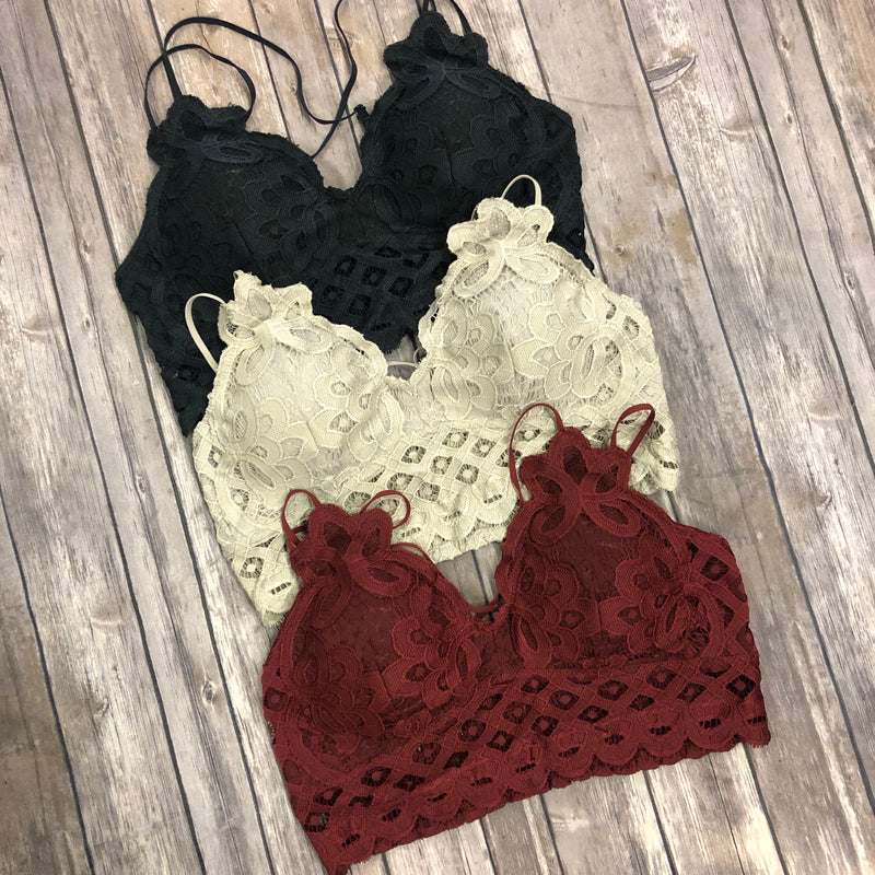 Criss Cross Lace Bralette
