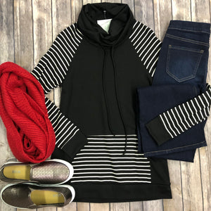 Striped Contrast Pullover