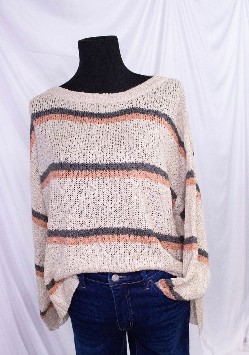Lightweight Striped Oversize Sweater