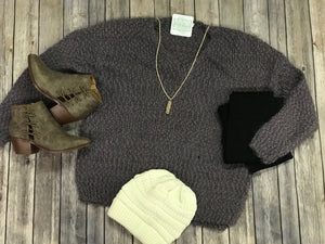 Large Knit Pullover