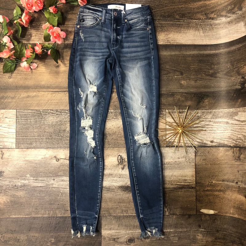 Kancan Distressed Fade Skinnies