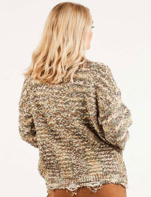 Speckled Distressed Sweater