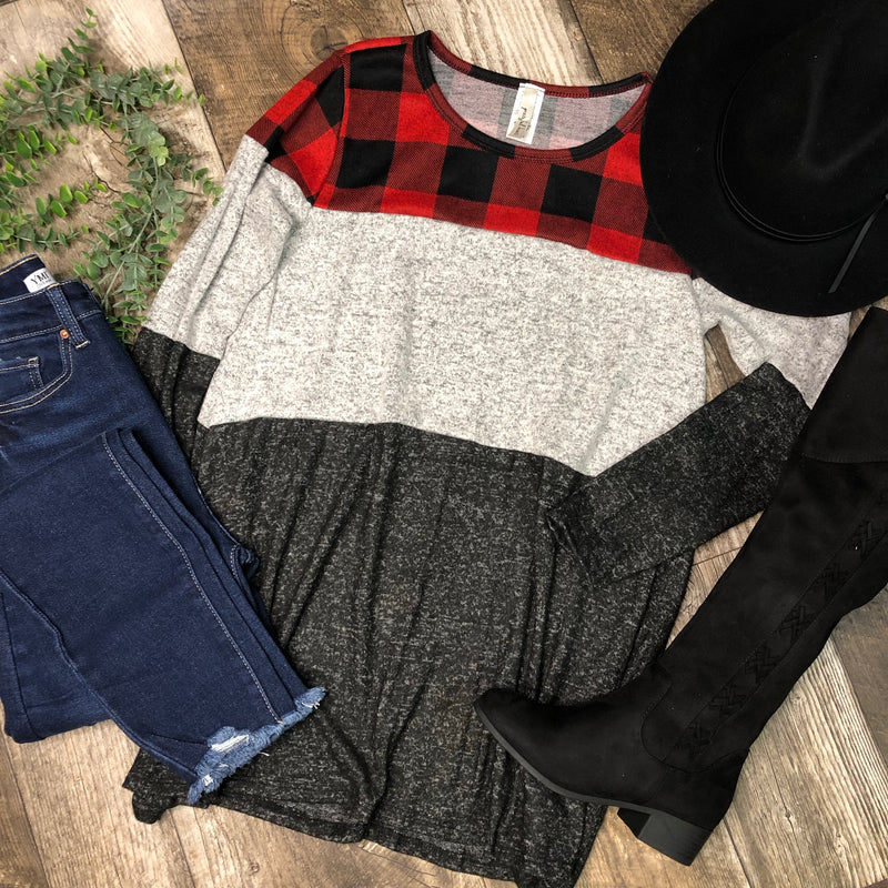 Buffalo Check Block Tunic
