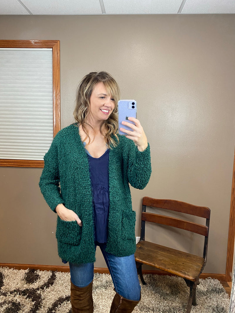 Cozy Popcorn Knit Cardigan