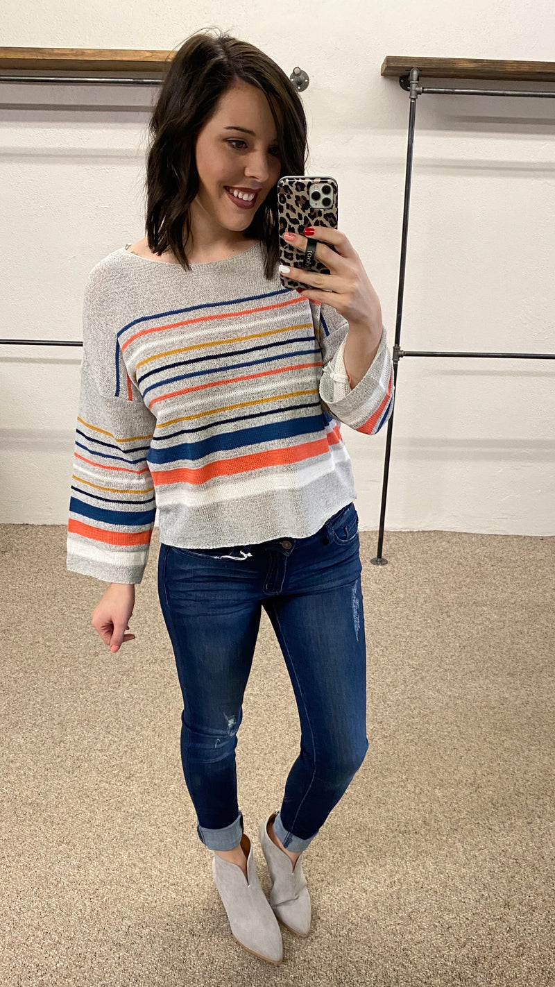 Keep it Light Striped Sweater