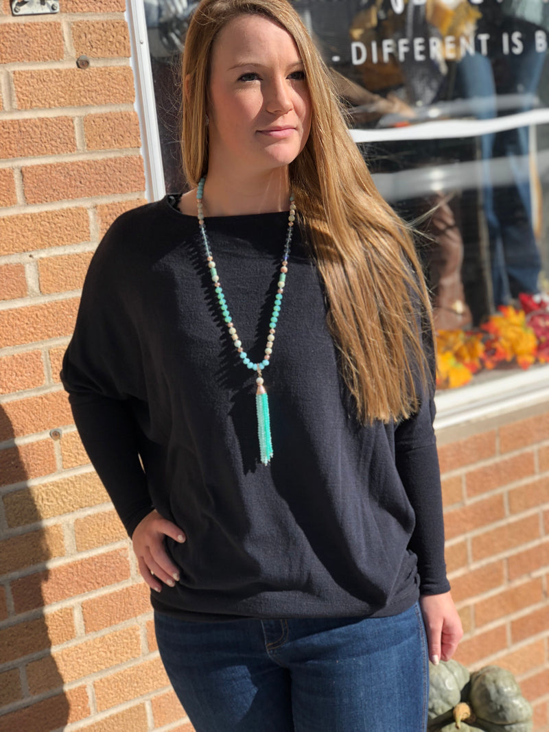 Off the Shoulder Dolman Tunic