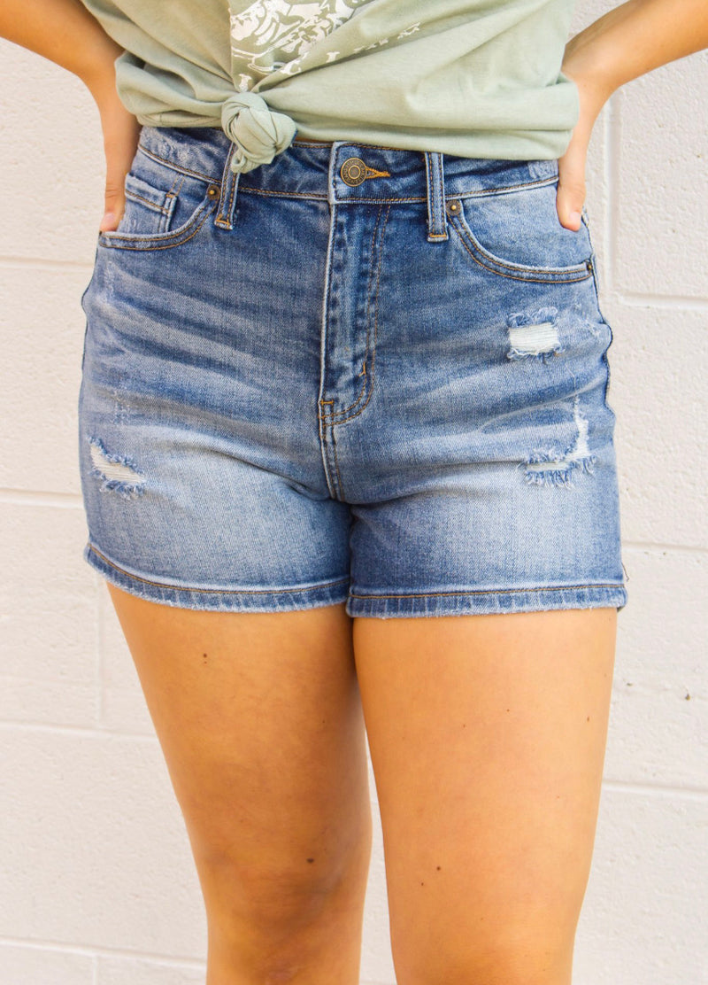 HIGH RISE VINTAGE WASHED SHORTS